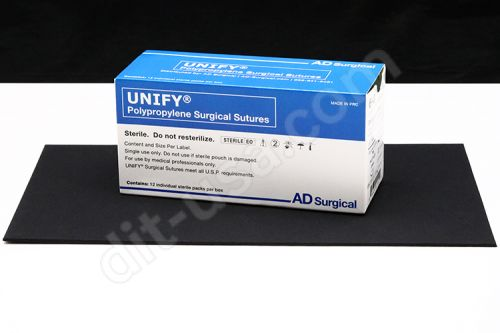 """5-0 x 18"""" Unify Polypropylene Sutures with P-3 Needle - 12/Box"""