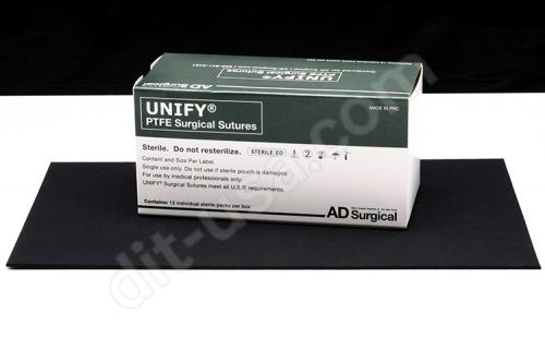 """Unify 6/0,PTFE, 18"""", 13mm P-3, 3/8RC Sutures, 12/box"""