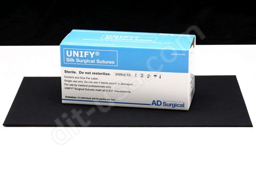 """5-0 x 18"""" Unify Silk Sutures with FS-2 Needle - 12/Box"""