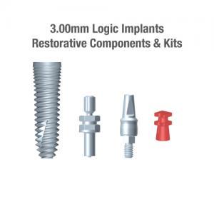 3.0mm Diameter Logic Implants, Restorative Components & Kits