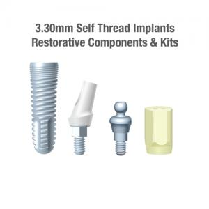3.30mm Diameter NTI Self-Thread Implants, Restorative Components & Kits