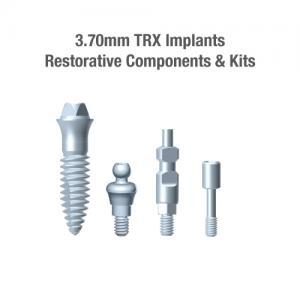 3.7mm Diameter TRX Implants, Restorative Components & Kits