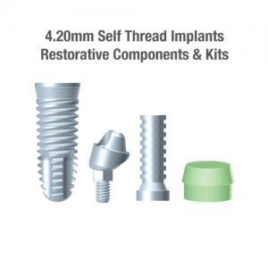 4.2mm Diameter GTI Self-Thread Implants, Restorative Components & Kits