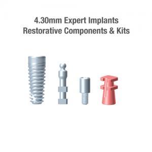 4.3mm Diameter Expert Implants, Restorative Components & Kits