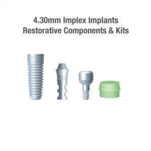 4.3mm Diameter Implex Implants, Restorative Components & Kits