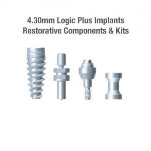4.3mm Diameter Logic+ Implants, Restorative Components & Kits