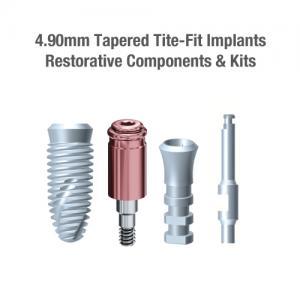 4.9mm Diameter Tite-Fit Implants, Restorative Components & Kits
