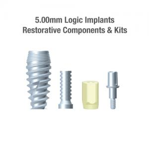 5.0mm Diameter Logic Implants, Restorative Components & Kits