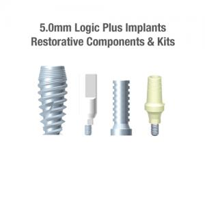 5.0mm Diameter Logic+ Implants, Restorative Components & Kits