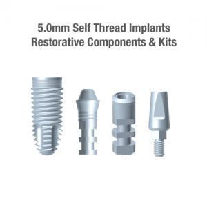 5.0mm Diameter WTI Self-Thread Implants, Restorative Components & Kits