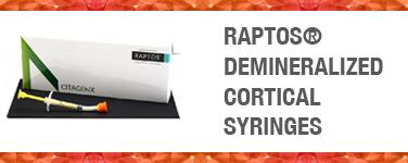 Raptos Demineralized Cortical Syringes