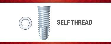 Self-Thread Implants